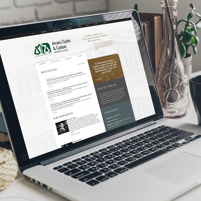 Montagem de sites para advogados